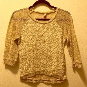 Knitworks Cream Long Sleeve Top